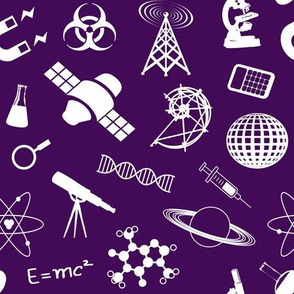 Science on Dark Purple - Large
