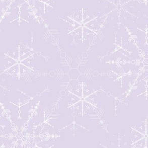 Space Snowflakes - Lavender