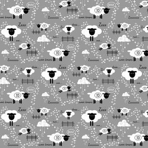 Counting Sheep // grey