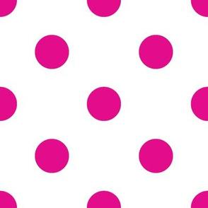 Dark Pink Polka Dots