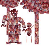 geometric figures and trees