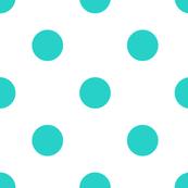 Cyan Polka Dots