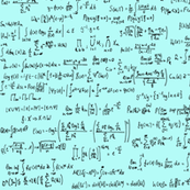 Math Equations on Light Blue