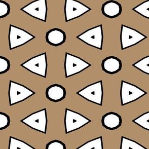 Tan, White, Black Geometric