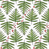 Ferns and Diagonal Lychees Ribbon