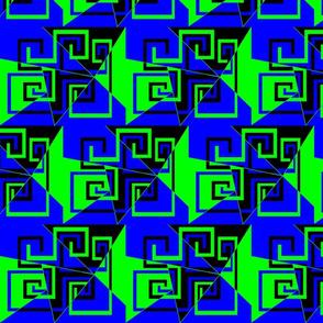 6 - Geometric - Whimsical_Mazes_-_Green_Blue