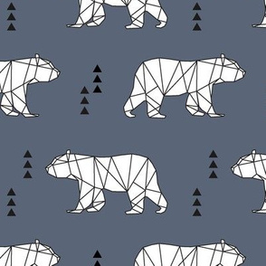geometric bear  // dark blue