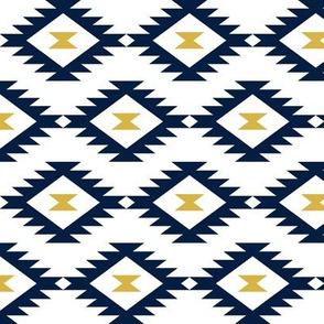 Aztec Navy/White