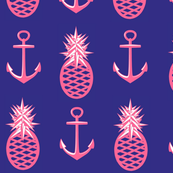Navy Nautical Pink