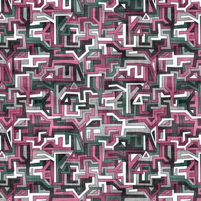 Maze Shapes Rose