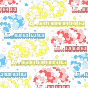 Baby's Color Alphabet Trains | primary colors | medium