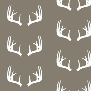 antlers on brown // rustic woods collection