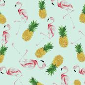 Pineapple Flamingo Summer