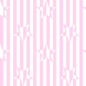 Stars and Stripes Pink White