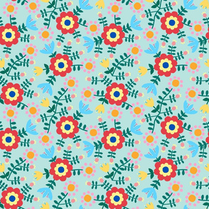 Folk Floral (blue)
