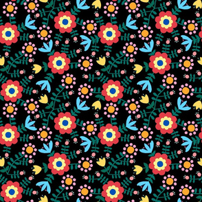 Folk Floral (black)