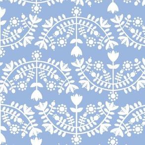 Folk Floral Blue