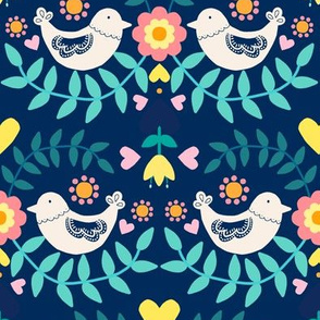 Folky Pattern Blue
