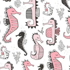 Seahorses Pink