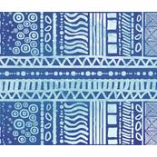 Batik Tea Towel Indigo Aqua