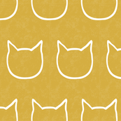cat outline - mustard