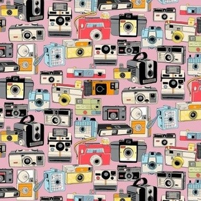 Make It Snappy! (Mini Pink) || vintage camera illustrations analog photography film photo photographer