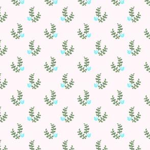 Bird and Leaves block print pattern