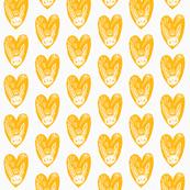 i heart veg (dawn colorway - orange)