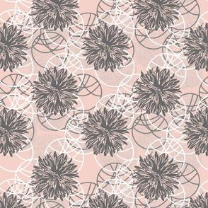 Chrysanthemum Circles - Soft Pink
