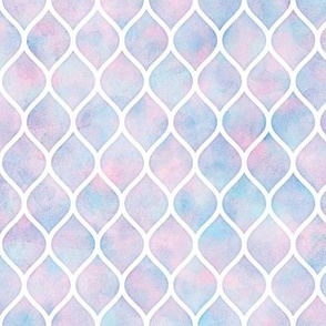 Watercolor Ogee Pattern 1