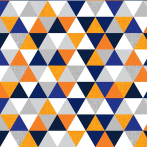 navy and orange triangles