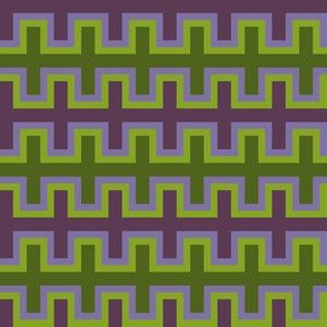 Purple and Green Southwest Blanket Weave