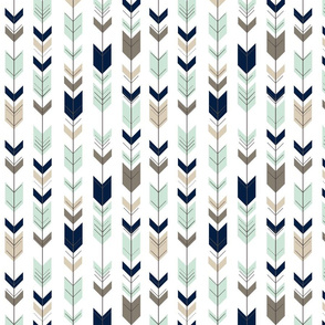 Fletching arrow (small scale) // navy,mint,brown