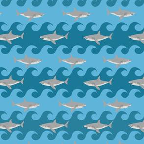Shark Wave Ocean