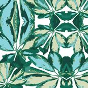Umbrella Plant BLUE GREEN Botanical Tropical Print