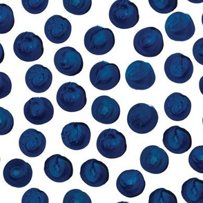 Indigo Watercolor Dots