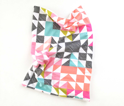 puzzle wholecloth // neon brights // small