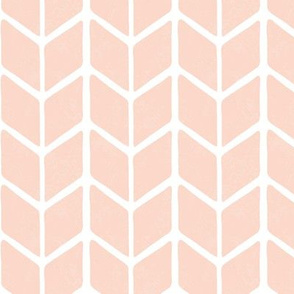 chevron book - shell pink