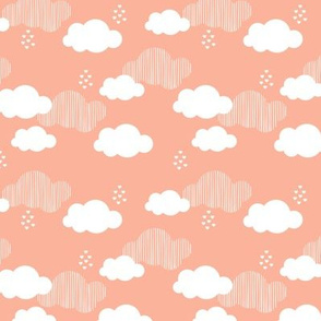 Sweet dreams scandinavian clouds for kids coral gender neutral