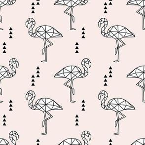 Geometric Flamingo // pale pink