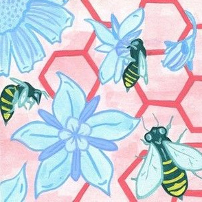 Bees in Pink