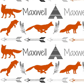 Custom Fox Name Fabric