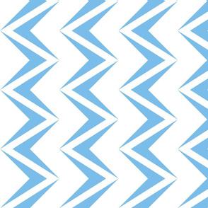 nested chevron modern baby blue