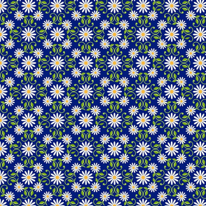 Daisy Square- blue- large