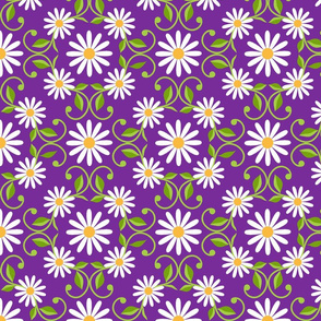 Daisy Square- purple- extra large