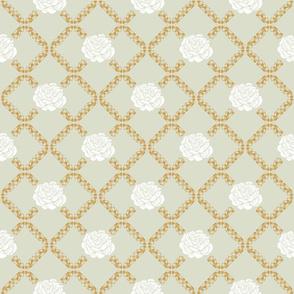 rose lattice - golden spindle