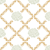 rose lattice - golden spindle light