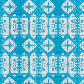 Shibori Windows - Serenity Blue