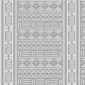 Light Grey African Mudcloth