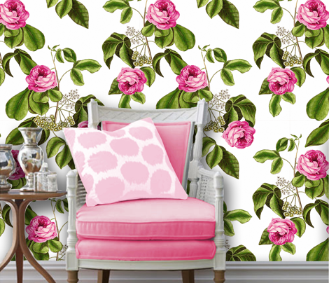 Suffolk Rose Floral Wallpaper and Fabric